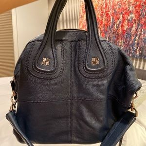 Givenchy Navy Blue Leather Large Nightingale